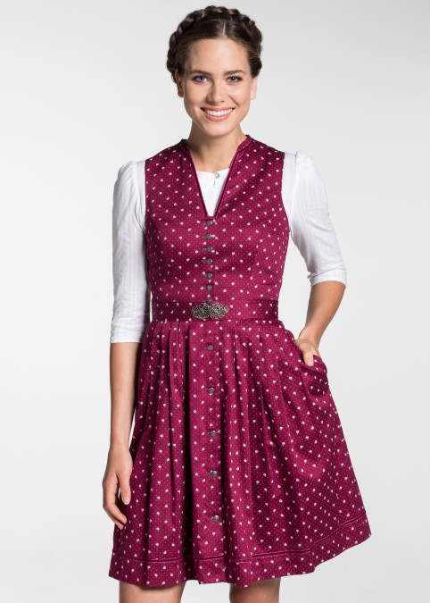 "Dirndl ""Hester"" mini, Rot Frontansicht"