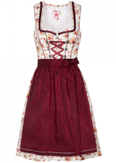 "Dirndl ""Honey"" mini, Rot Frontansicht"