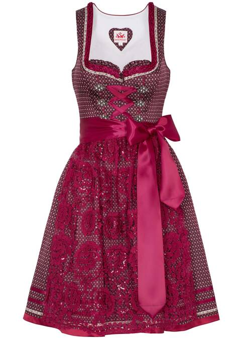 "Dirndl ""Peaches"" mini, Rot"