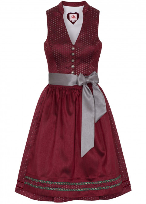 "Dirndl ""Pia"" midi, Rot Frontansicht"
