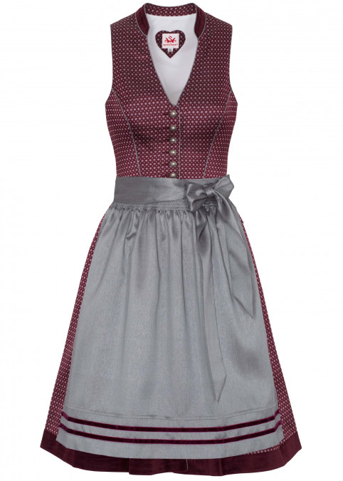 "Dirndl ""Pearl"" midi, Rot Frontansicht"